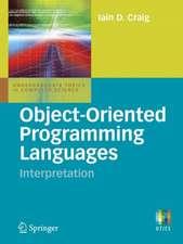 Object-Oriented Programming Languages: Interpretation