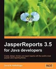 Jasperreports 3.5 for Java Developers:  The Definitive Guide
