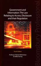 Government and Information: The Law Relating to Access, Disclosure and their Regulation