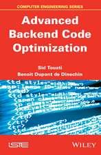 Advanced Backend Code Optimization