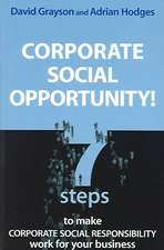 Corporate Social Opportunity!