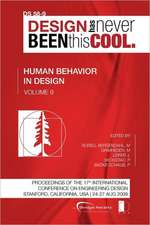 Proceedings of Iced'09, Volume 9, Human Behaviour in Design:  Journey to the Voids