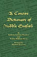 A Concise Dictionary of Middle English:  Jewish and Samaritan Versions Compared