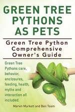 Green Tree Pythons as Pets. Green Tree Python Comprehensive Owner's Guide. Green Tree Pythons Care, Behavior, Enclosures, Feeding, Health, Myths and I:  A Beginners Guide.
