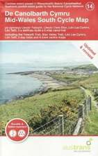 Mid-Wales South Cycle Map