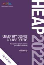 HEAP 2022: University Degree Course Offers