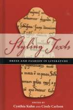 Styling Texts:  Dress and Fashion in Literature