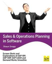 Sales and Operations Planning in Software