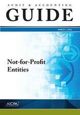 Not–for–Profit Entities, 2016