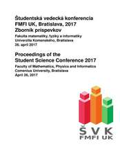 Proceedings of the Student Science Conference 2017
