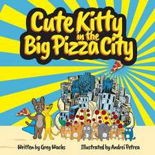 Cute Kitty in the Big Pizza City