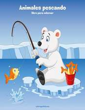 Animales Pescando Libro Para Colorear 1