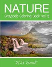 Nature Grayscale Coloring Book Vol. 3