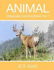 Animal Grayscale Coloring Book Vol. 1