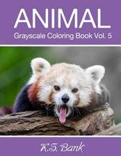 Animal Grayscale Coloring Book Vol. 5