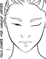 Face Charts for Makeup Artists Stacy