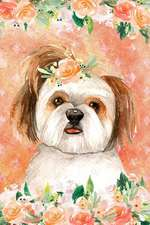 Journal Notebook for Dog Lovers Shih Tzu in Flowers 5