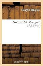 Note de M. Mauguin