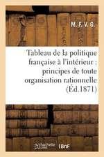 Tableau de La Politique Francaise A L'Interieur