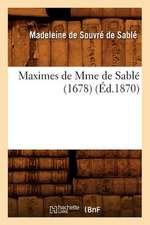 Maximes de Mme de Sable (1678) (Ed.1870)