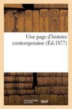 Une Page D'Histoire Contemporaine