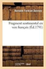 Fragment Sentimental En Vers Francais