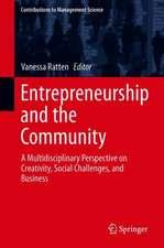 Entrepreneurship and the Community