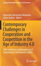 Contemporary Challenges in Cooperation and Coopetition in the Age of Industry 4.0