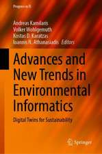Advances and New Trends in Environmental Informatics: Digital Twins for Sustainability