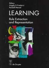 Learning: Rule Extraction and Representation