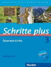 Schritte plus 03. Kursbuch + Arbeitsbuch + Österreich EXTRA mit Audio-CD