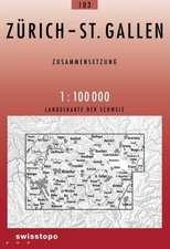 Swisstopo 1 : 100 000 Zürich St.Gallen