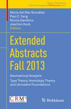 Extended Abstracts Fall 2013