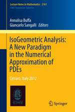 IsoGeometric Analysis:  A New Paradigm in the Numerical Approximation of PDEs: Cetraro, Italy 2012