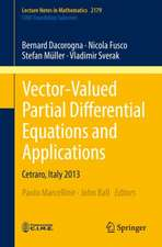 Vector-Valued Partial Differential Equations and Applications: Cetraro, Italy 2013