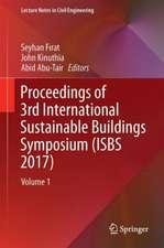 Proceedings of 3rd International Sustainable Buildings Symposium (ISBS 2017)