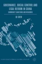 Governance, Social Control and Legal Reform in China: Community Sanctions and Measures