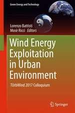Wind Energy Exploitation in Urban Environment: TUrbWind 2017 Colloquium