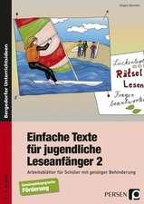 Einfache Texte für jugendliche Leseanfänger 2