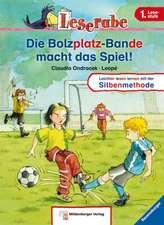 Leserabe mit Mildenberger. Die Bolzplatz-Bande macht das Spiel: Bestseller Ravensburger. Leichter lesen lernen mit der Silbenmethode! 1 Lesestufe