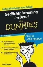 Gedächtnistraining im Beruf für Dummies Das Pocketbuch