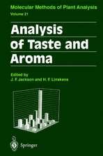 Analysis of Taste and Aroma