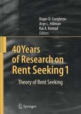 40 Years of Research on Rent Seeking