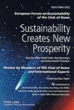 Sustainability Creates New Prosperity