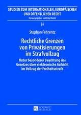 Rechtliche Grenzen Von Privatisierungen Im Strafvollzug:  Unter Besonderer Beachtung Des Gesetzes Ueber Elektronische Aufsicht Im Vollzug Der Freiheits
