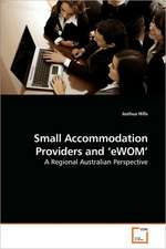 Small Accommodation Providers and 'eWOM'