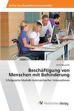 Beschäftigung von Menschen mit Behinderung