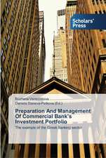 Preparation and Management of Commercial Bank's Investment Portfolio:  Hindi as a Case Study