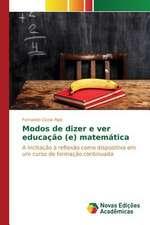 Modos de Dizer E Ver Educacao (E) Matematica:  Aspectos Da Sindrome de Narciso