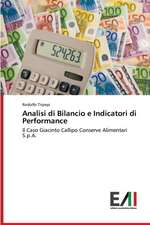 Analisi Di Bilancio E Indicatori Di Performance